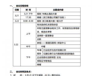 关于召开浙江省仪器仪表行业协会换届暨智能制造研讨大会的通知