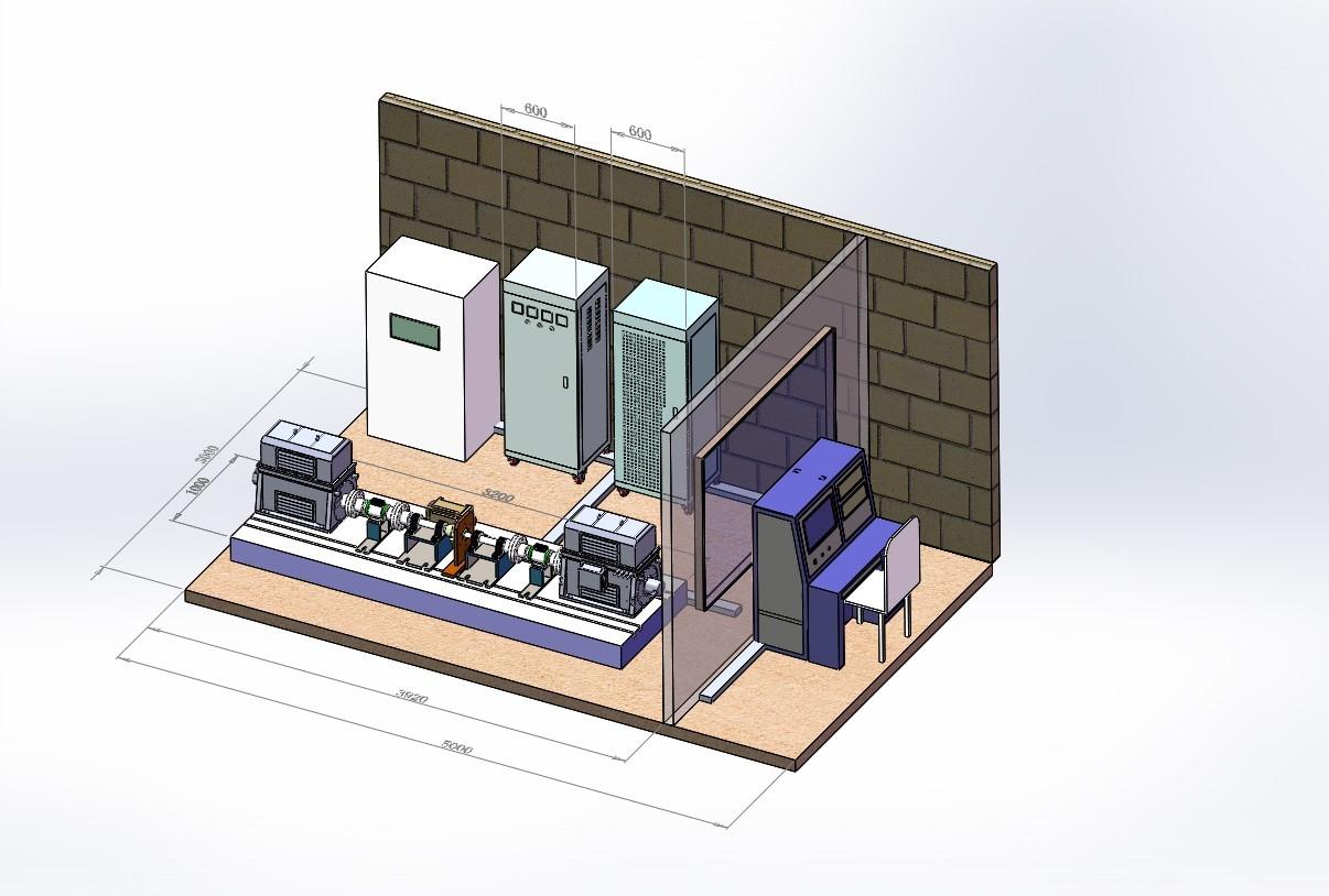 能量回馈型新能源电动车动力总成测试系统